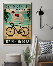 Cycling Club Samoyed 11x17 Poster lifestyle-poster-1