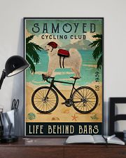 Cycling Club Samoyed 11x17 Poster lifestyle-poster-2