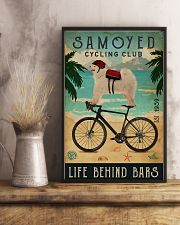 Cycling Club Samoyed 11x17 Poster lifestyle-poster-3