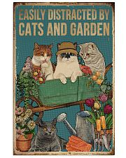 Retro Easily Distracted By Cats And Garden 16x24 Poster front