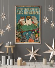 Retro Easily Distracted By Cats And Garden 16x24 Poster lifestyle-holiday-poster-1
