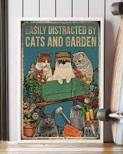 Retro Easily Distracted By Cats And Garden 16x24 Poster lifestyle-poster-4