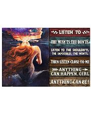 Mermaid Anything Can Happen 24x16 Poster front