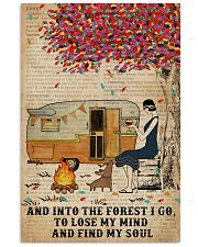 Camping Girl Into The Forest 11x17 Poster front