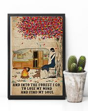 Camping Girl Into The Forest 11x17 Poster lifestyle-poster-8
