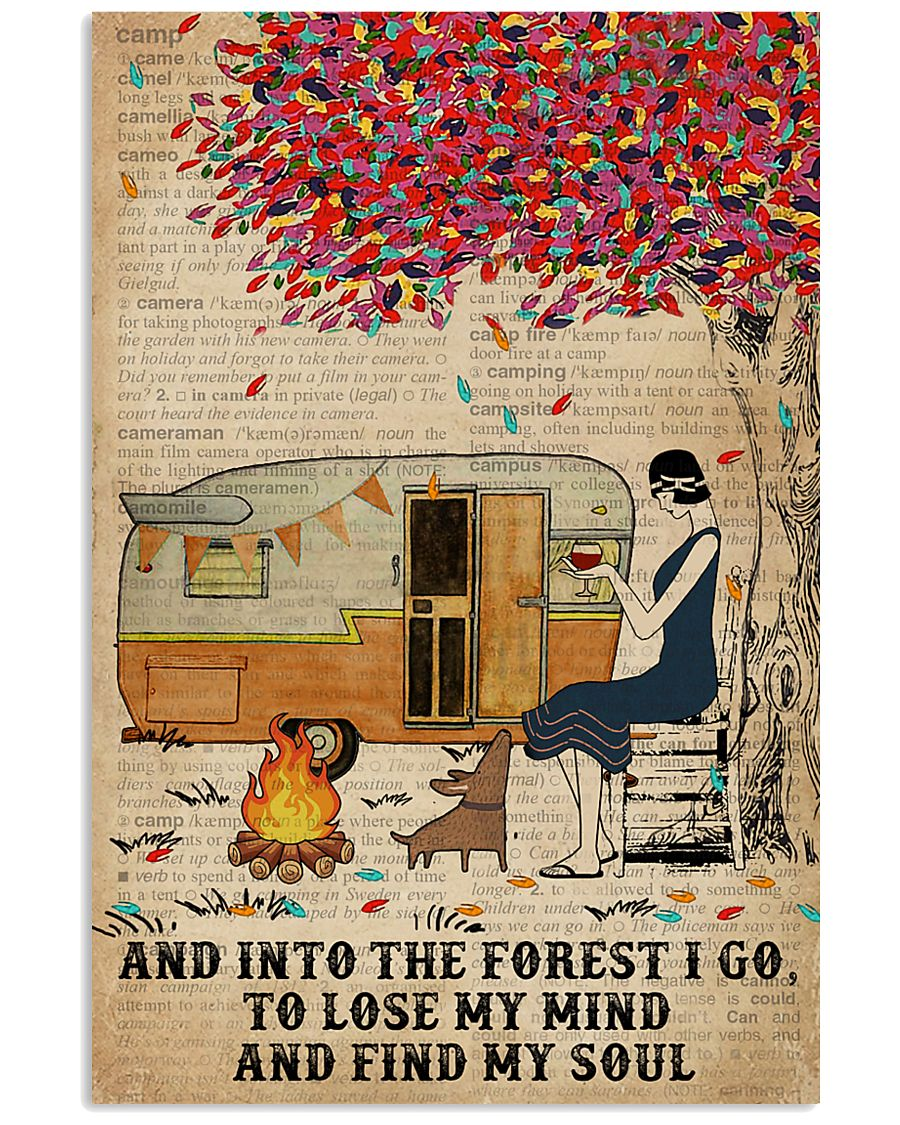 Camping Girl Into The Forest 16x24 Poster