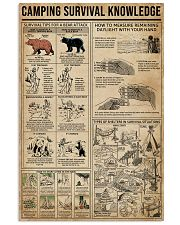 Camping Survival Knowledge 11x17 Poster front