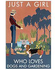 Vintage Just A Girl Loves Gardening Basset Hound 11x17 Poster front