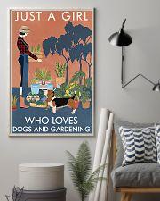 Vintage Just A Girl Loves Gardening Basset Hound 11x17 Poster lifestyle-poster-1