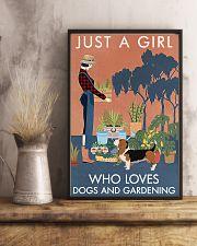 Vintage Just A Girl Loves Gardening Basset Hound 11x17 Poster lifestyle-poster-3