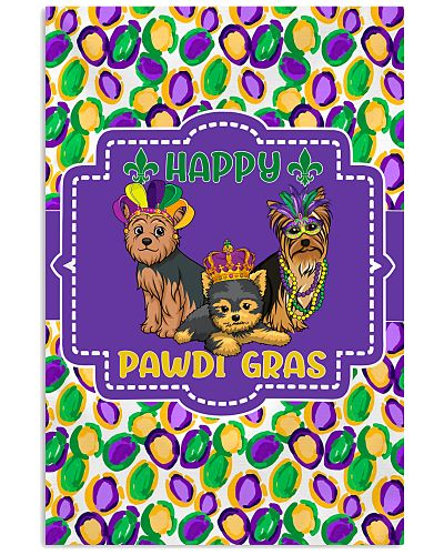 Funny Pawdi Gras Yorkshire Terriers