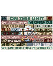 Nurse Healthcare Workers On This Unit Team Work 17x11 Poster front