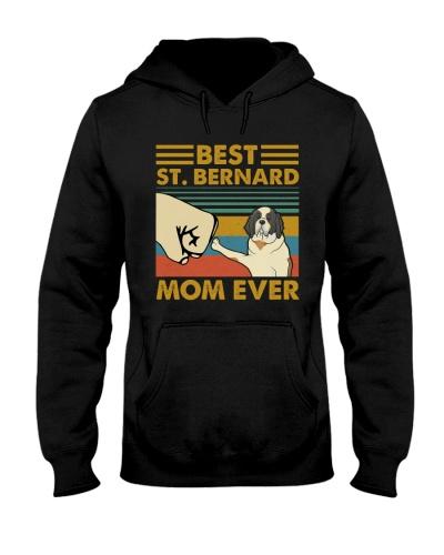 Retro Blue Best St Bernard Mom Ever