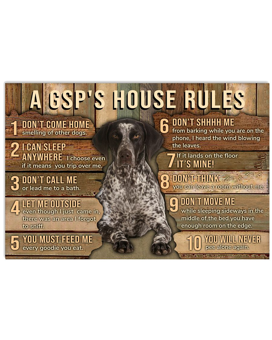 My House My German Shorthaired Pointer My Rules 24x16 Poster
