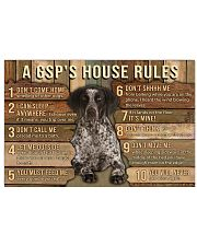 My House My German Shorthaired Pointer My Rules 24x16 Poster front