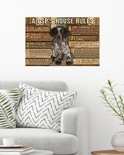 My House My German Shorthaired Pointer My Rules 24x16 Poster poster-landscape-24x16-lifestyle-01
