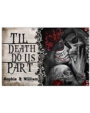 Personalized Skeleton Do Us Part 24x16 Poster front