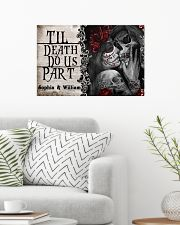 Personalized Skeleton Do Us Part 24x16 Poster poster-landscape-24x16-lifestyle-01