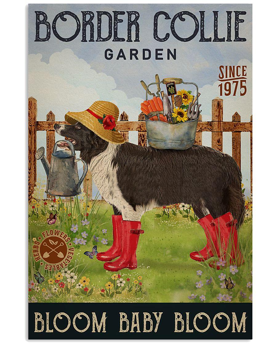 Gardening Bloom Baby Border Collie 16x24 Poster
