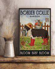 Gardening Bloom Baby Border Collie 16x24 Poster lifestyle-poster-3