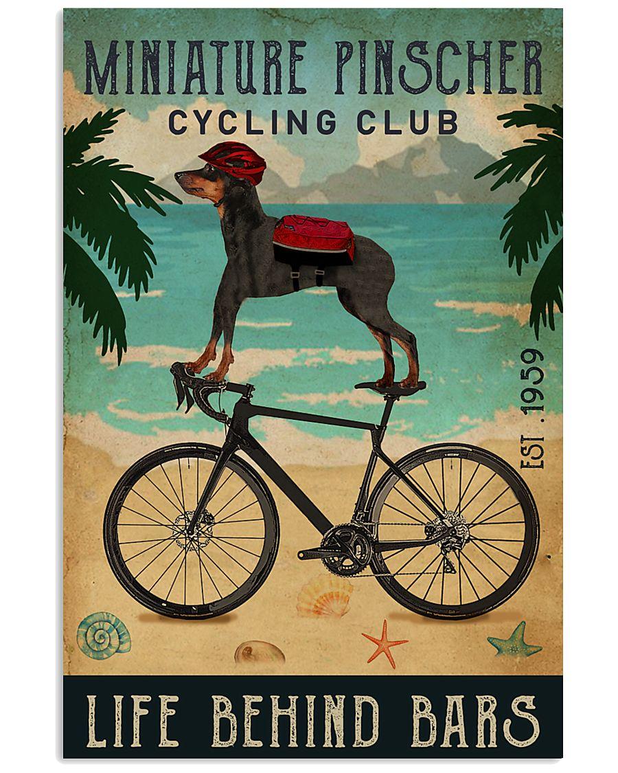 Cycling Club Miniature Pinscher 11x17 Poster