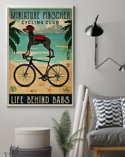 Cycling Club Miniature Pinscher 11x17 Poster lifestyle-poster-1