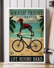 Cycling Club Miniature Pinscher 11x17 Poster lifestyle-poster-4