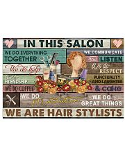 Floral In This Salon We Are Hair Stylist 24x16 Poster front