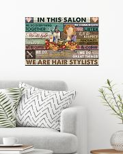Floral In This Salon We Are Hair Stylist 24x16 Poster poster-landscape-24x16-lifestyle-01