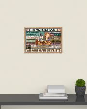 Floral In This Salon We Are Hair Stylist 24x16 Poster poster-landscape-24x16-lifestyle-09