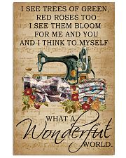 Floral Music Sheet Wonderful World Quilting 11x17 Poster front