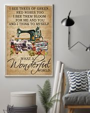 Floral Music Sheet Wonderful World Quilting 11x17 Poster lifestyle-poster-1