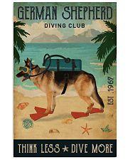 Vintage Diving Club German Shepherd 11x17 Poster front