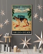 Vintage Diving Club German Shepherd 11x17 Poster lifestyle-holiday-poster-1
