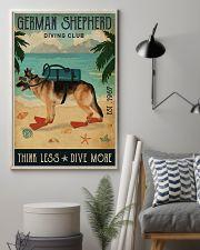 Vintage Diving Club German Shepherd 11x17 Poster lifestyle-poster-1