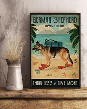 Vintage Diving Club German Shepherd 11x17 Poster lifestyle-poster-3
