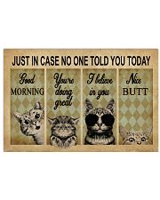 Just In Case No One Told You Today Cat 24x16 Poster front