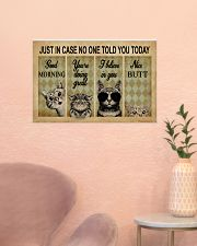 Just In Case No One Told You Today Cat 24x16 Poster poster-landscape-24x16-lifestyle-23