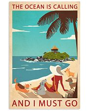 Retro Art The Ocean Is Calling Girl And Dogs 11x17 Poster front