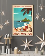 Retro Art The Ocean Is Calling Girl And Dogs 11x17 Poster lifestyle-holiday-poster-1