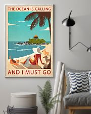 Retro Art The Ocean Is Calling Girl And Dogs 11x17 Poster lifestyle-poster-1