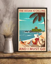 Retro Art The Ocean Is Calling Girl And Dogs 11x17 Poster lifestyle-poster-3