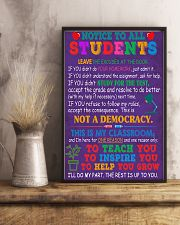 Teacher Notice To All Students 11x17 Poster lifestyle-poster-3