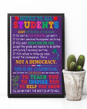 Teacher Notice To All Students 11x17 Poster lifestyle-poster-8