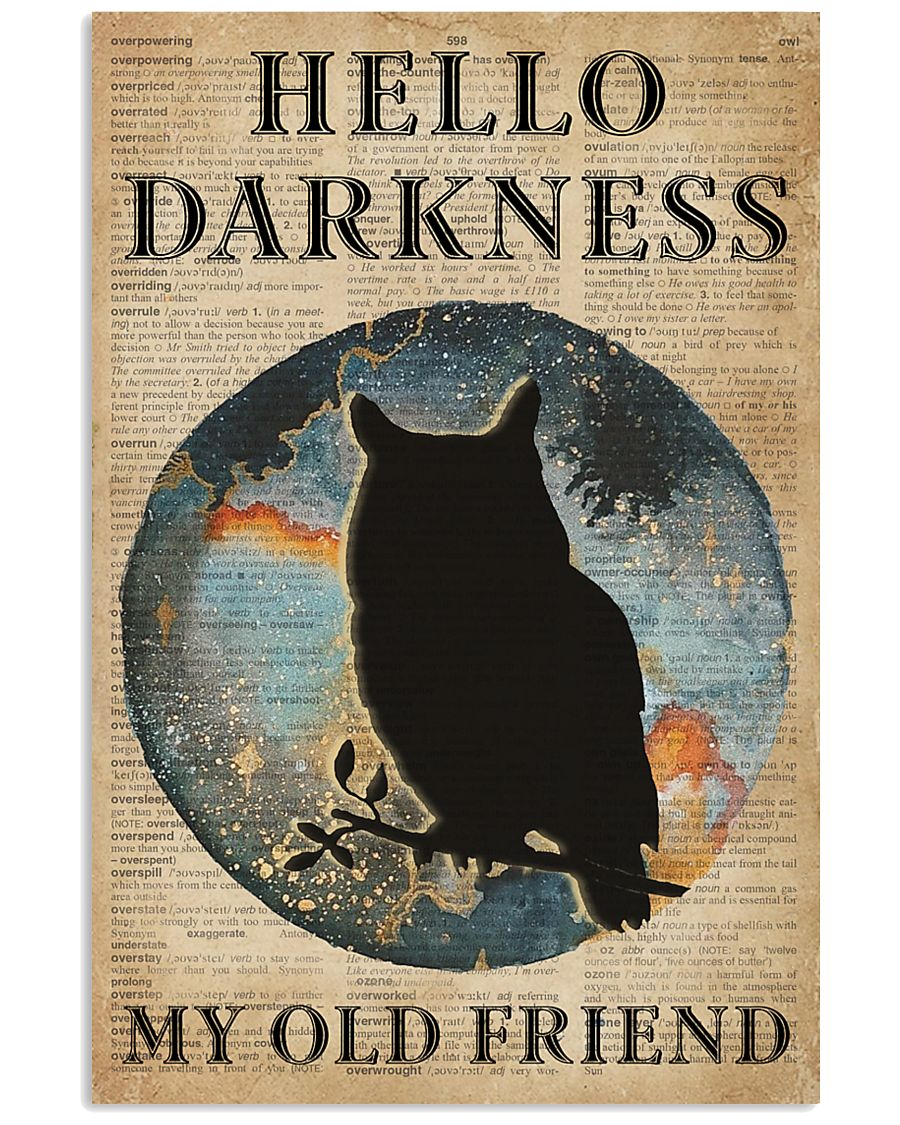 Blue Earth Hello Darkness Owl 11x17 Poster