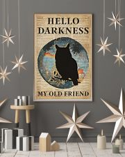 Blue Earth Hello Darkness Owl 11x17 Poster lifestyle-holiday-poster-1