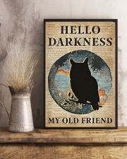 Blue Earth Hello Darkness Owl 11x17 Poster lifestyle-poster-3