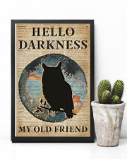 Blue Earth Hello Darkness Owl 11x17 Poster lifestyle-poster-8