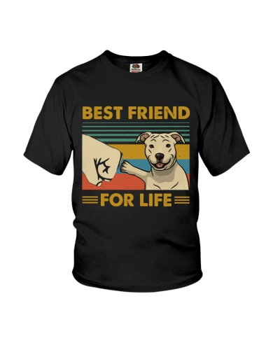 Retro Blue Best Friend For Life Pit Bull
