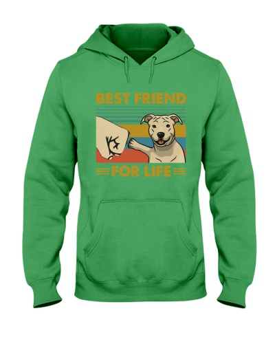 Retro Blue Best Friend For Life Pit Bull
